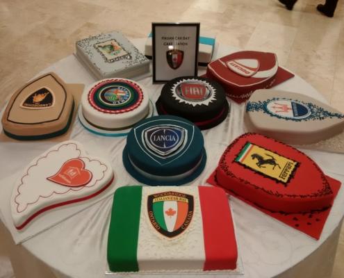Italian Car Day 2015, car cakes